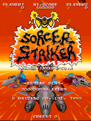 Sorcer Striker Title Screen.png